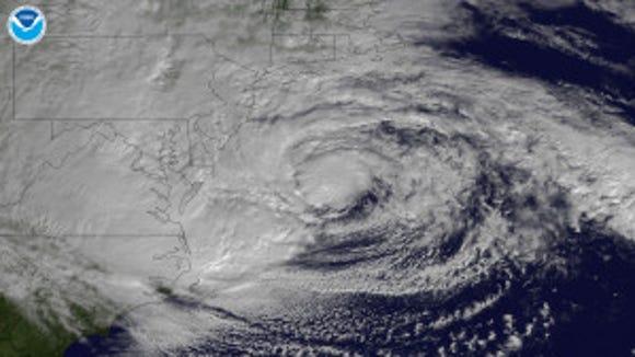 Superstorm Sandy in October 2012