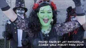 Zombie Walk Asbury Park, NJ 2014 and music video JERSEY SHORE by Sweet Whiskey