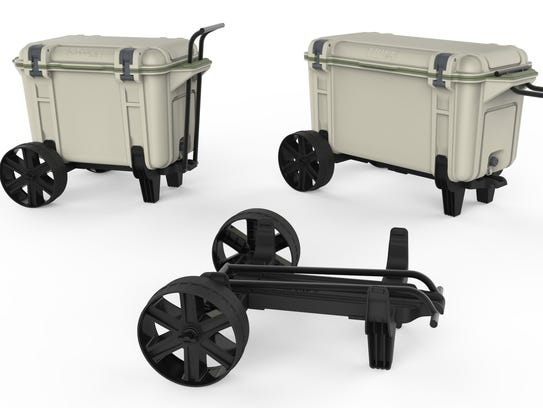 The OtterBox Venture Cooler and All Terrain Wheels.