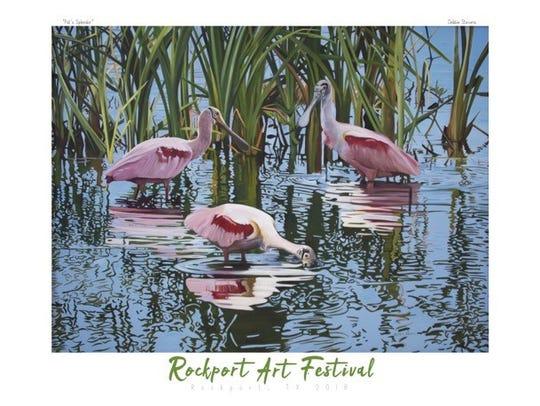 The Rockport Art Festival 2018 Poster Artist is Debbie