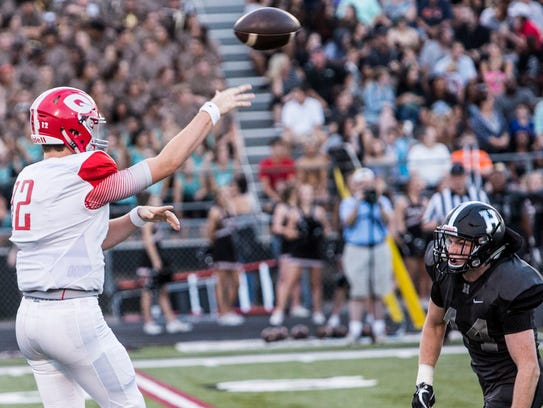 August 25, 2017 - Germantown's quarterback, Ethan Payne,