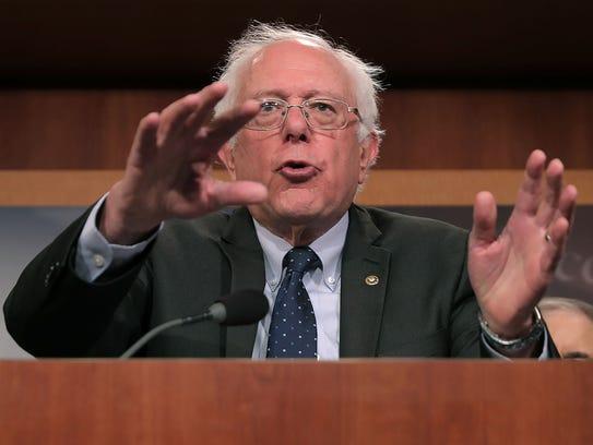BErnie Sanders file photo, Oct. 4, 2017.