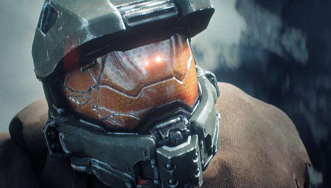 """FILE- This file photo provided by Microsoft shows a scene from the """"Halo"""" video game for the Xbox One. Master Chief is returning to the battlefield next year. Microsoft announced plans Friday, May 16, 2014, to release the video game sequel """"Halo 5: Guardians"""" for the Xbox One and a """"Halo"""" television series to be produced by Steven Spielberg in fall 2015. (AP Photo/Microsoft, file)"""