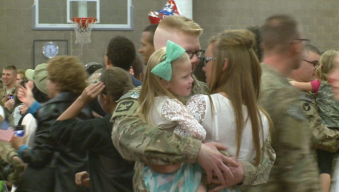 A Minnesota National Guard transportation unit is home after serving for 342 days in Afghanistan.