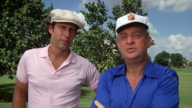 """Rodney Dangerfield (right) and Chevy Chase in a scene from """"Caddyshack."""""""