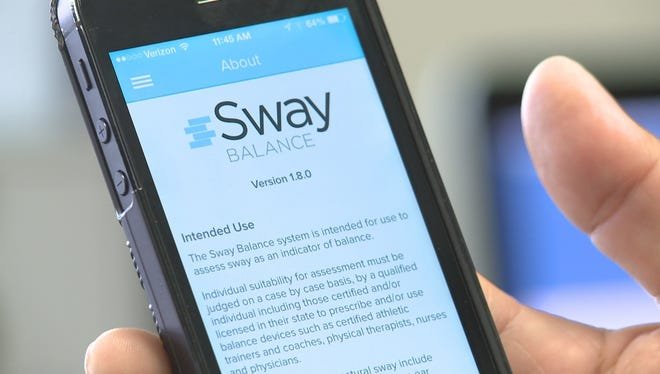Sway Balance is a new app that allows athletic trainers to send important information about and injured athlete to a doctor.