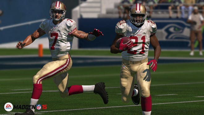"Virtual pigskin action returns in ""Madden NFL 15,"" which features improved visuals and upgrades on the defensive side of field."