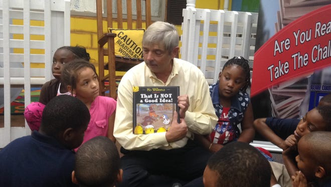 Leon County Schools Superintendent Jackie Pons read to students at Bond Elementary School Monday morning.