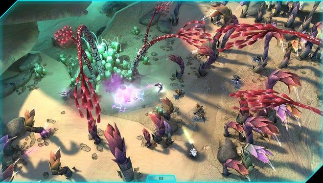 A screenshot from 'Halo Spartan Assault'