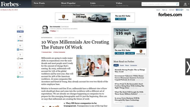 10 Ways Millennials Are Creating The Future Of Work