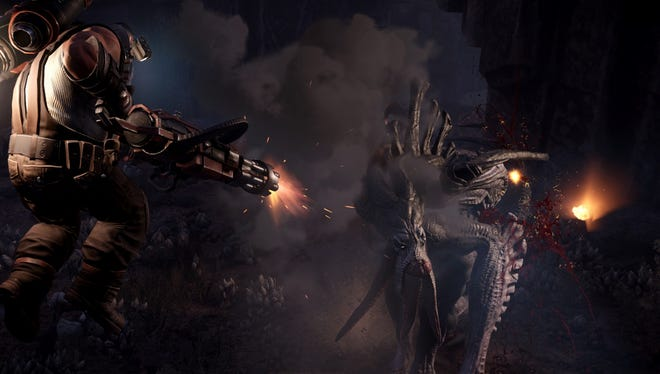 A screenshot from the upcoming video game 'Evolve,' from Turtle Rock Studios, 2K Games and Take-Two Interactive.