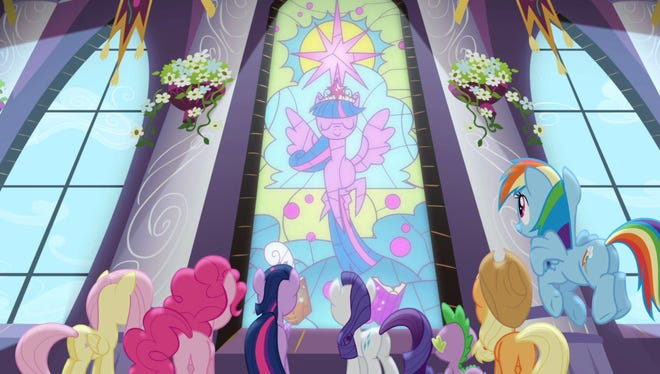 This photo previews the Nov. 23 season premiere of 'My Little Pony: Friendship is Magic' on The Hub.