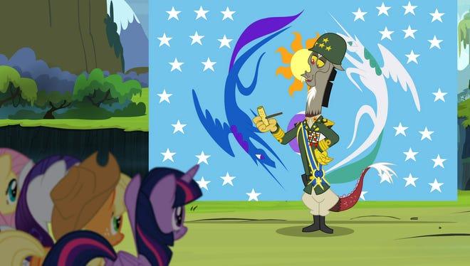Discord (voiced by John de Lancie) in the season finale of 'My Little Pony: Friendship is Magic.'