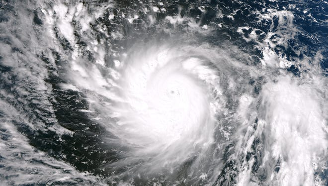 This image from the Suomi NPP satellite captured Super Typhoon Haiyan on Wednesday.