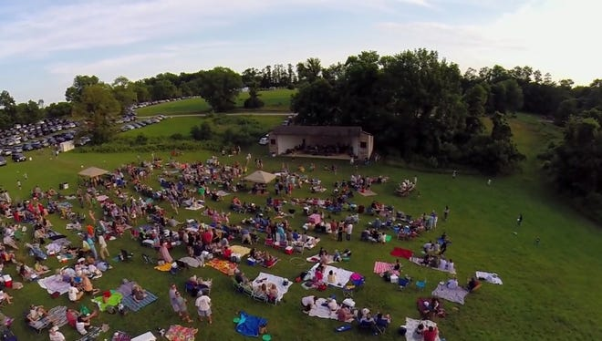 The scene from high above the Brandywine Valley Association, site of Sept.20's annual Jam on the Brandywine concert.