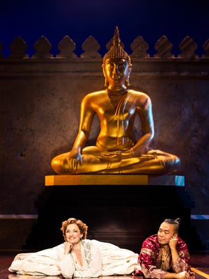 """Laura Michelle Kelly and Jose Llana in """"The King and I."""""""