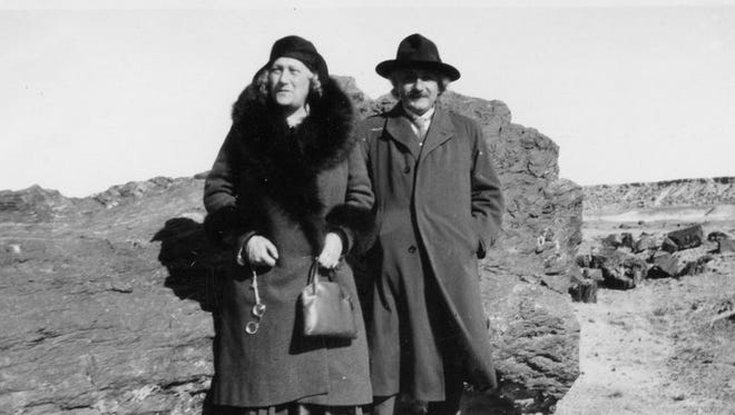 In March 1931, Albert Einstein visited Petrified Forest National Park.