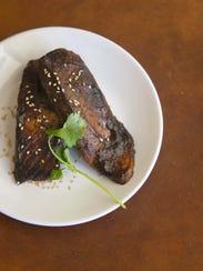 Hoisin Glazed Salmon at Robin Miller's home in Scottsdale