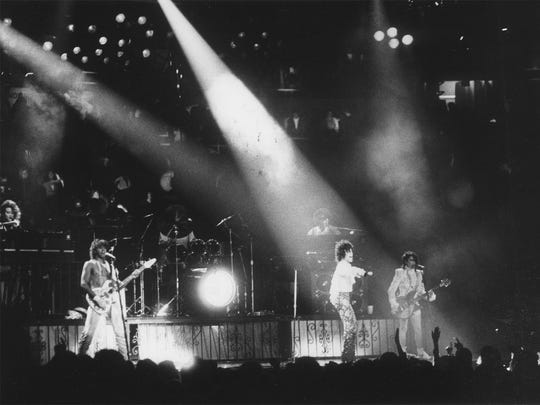Prince and the Revolution in concert at Joe Louis Arena November, 1984
