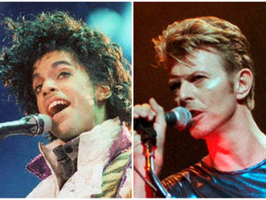Prince, David Bowie, George Michael
