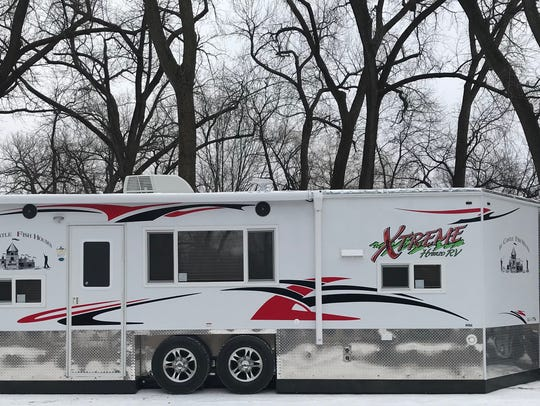 American Surplus and Manufacturing makes about half of the ice houses sold in the company's home state of Minnesota. This RV costs $34,400 and is among the company's most popular.