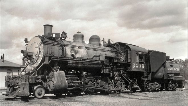 After the El Paso and Northeastern Railway established a Carrizozo terminal, Southern Pacific engines, as shown in the photograph, provided work for area men. My father, Abe Sanchez, began work here in the mid 1930s until retirement when steam engines became obsolete.