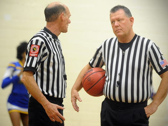 Veteran Bayside Conference referees Jack Pond and Chuck