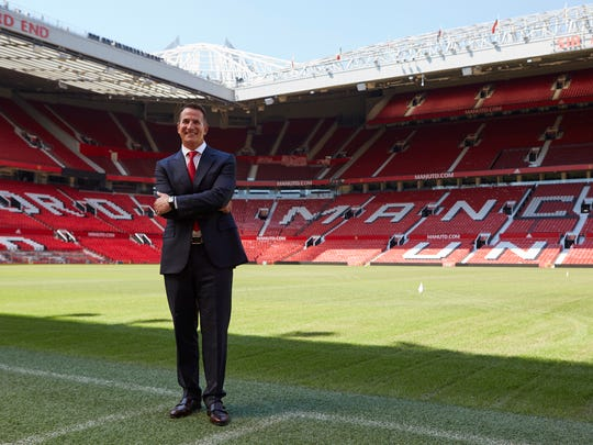 David Kohler, President and CEO of Kohler Co. at iconic Old Trafford Stadium - Kohler Co. Unveiled as Principal Partner of Manchester United - Kohler is the first shirt sleeve partner for both Manchester United men's and women's teams.