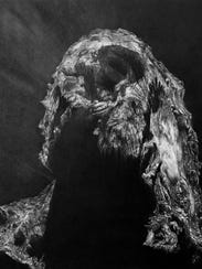 "Bethany Carlson's 2016 ""Philae Sleeps,"" charcoal on"