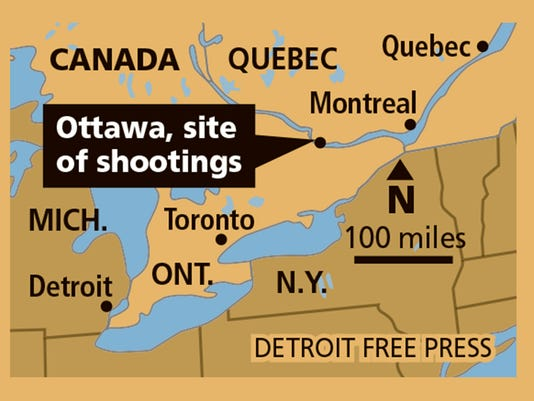 Ottawa-Canada-shooting-MAP