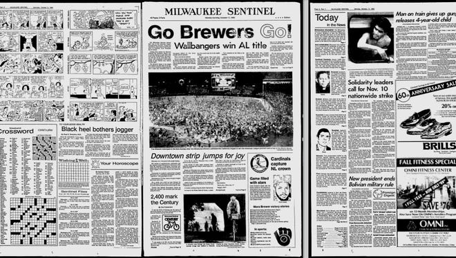 Screenshot of a 1982 edition of the Milwaukee Sentinel from the Google News archives.