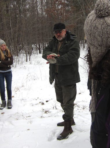 Steve Meurett attended Timber Wolf Information Network workshop at the Beaver Creek Nature Preserve near Fall Creek in February 2015.
