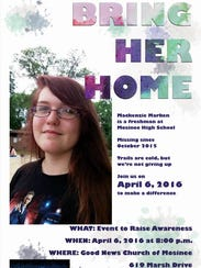 Poster for event to raise awareness about Mackenzie