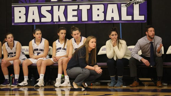 John Jay girls basketball coach Margo Hackett coaches