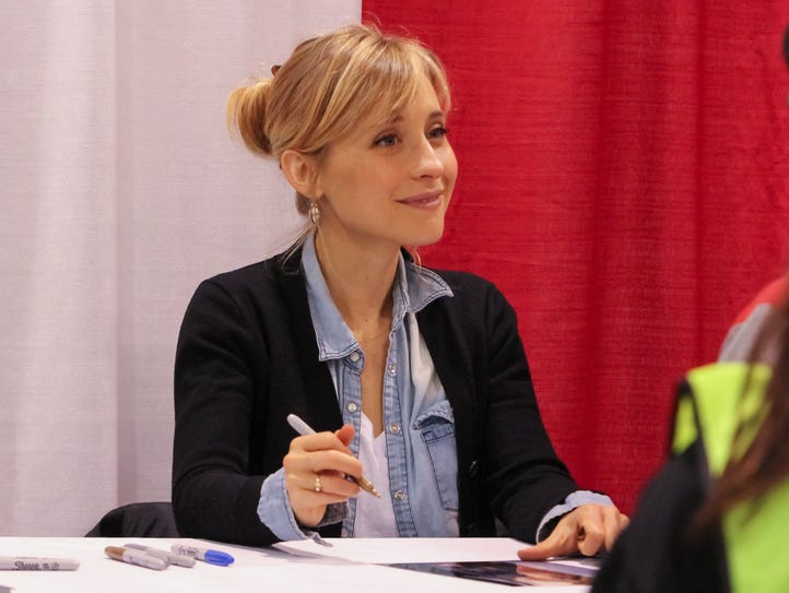 """Actress Allison Mack, form the television series """"Smallville,"""""""