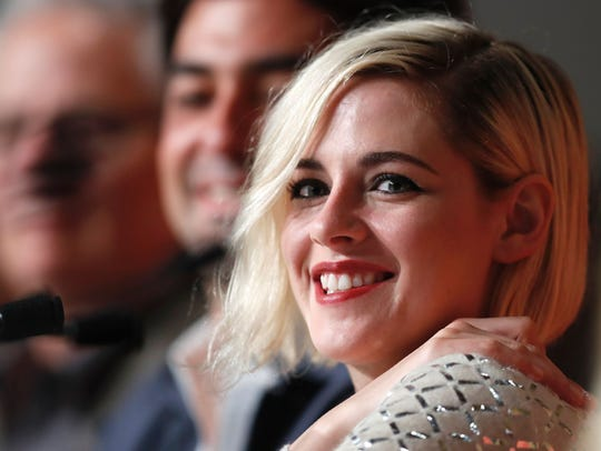 US actress Kristen Stewart smiles during a press conference