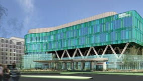 Drawing of renovated hospital, courtesy Norton Healthcare, 2012