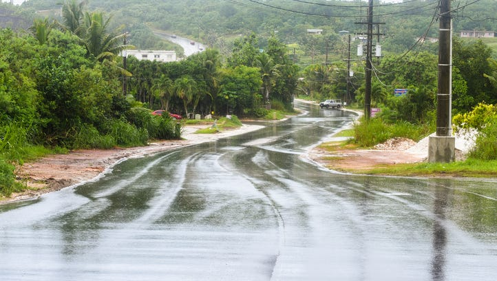 In this Aug. 18 file photo, rain falls on a recently
