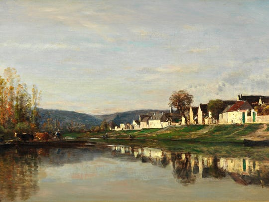 Charles François Daubigny, The Village of Gloton, 1857, oil on panel. San Francisco Fine Arts Museums, Mildred Anna Williams Collection