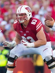 Wisconsin's Michael Deiter has the versatility to play anywhere on the offensive line.