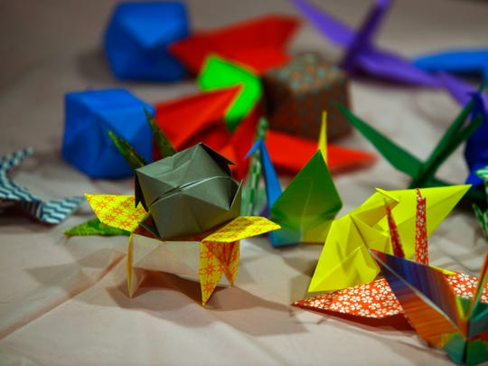 Origami on display during the 2016 Japanese New Year Celebration at the Rex Theatre.