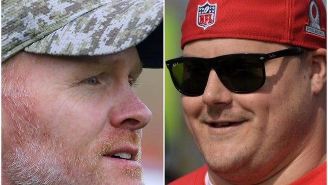 Buffalo Bills Head Coach Sean McDermott and former Bills lineman Richie Incognito.