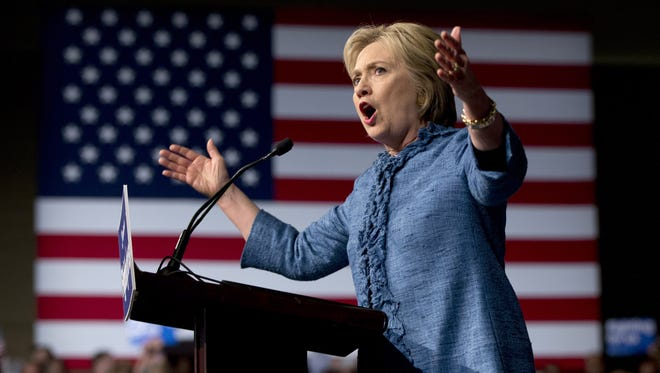 Democratic presidential candidate Hillary Clinton, seen here at a Tuesday event at the Palm Beach County Convention Center in West Palm Beach, Fla., has captured only $100 from a single York County contributor during her campaign.