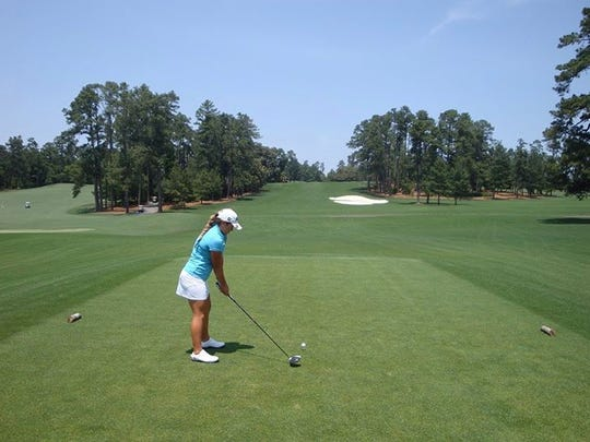 Aucilla Christian's Megan Schofill plays Augusta National in May. She shot 72 from the member's tees.
