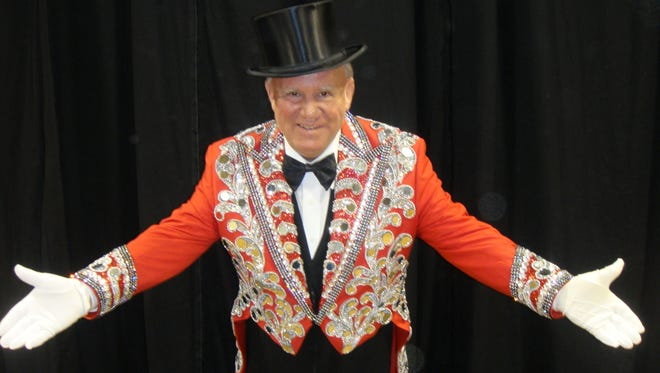 Billy Martin is ringmaster for the Royal Hanneford Circus.