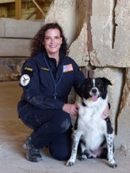 Andrea Sutcliffe, of Dallas, and her canine partner