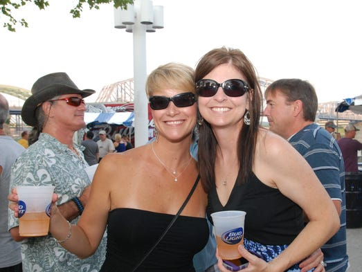 Party in the Park returned to Yeatman'??s Cove with music from DV8.  Traci and Shawna.