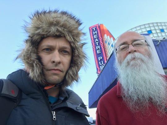 John Richard, left, and Michael Zahs pose for a photo