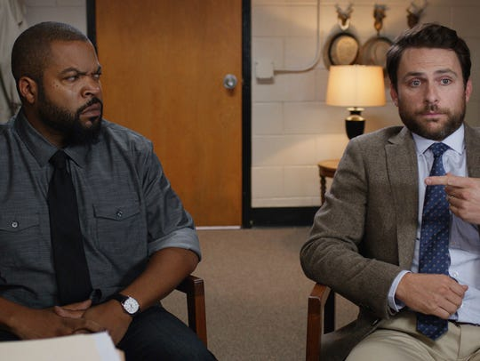 """Ice Cube and Charlie Day appear in a scene from """"Fist"""