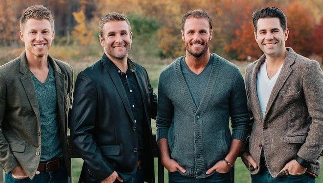 Four best friends from northeast Indiana, from left, John Sommer, Nate Norris, Silas Norris and Jonathan Weber, will be featured in a pilot show on HGTV called Small Town, Big Flip.